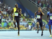 Usain Bolt completes his 100m sprint win in Olympics in Rio de Janeiro on Saturday. - Reuters photo