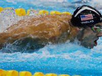 United States' Michael Phelps competes in the men's 4 x 100-meter medley relay final during the swimming competitions at the 2016 Summer Olympics, Saturday, August 13, 2016, in Rio de Janeiro, Brazil. -- AP photo