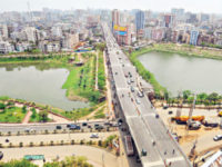 A file photo shows a portion of the Moghbazar-Mouchak Flyover in Dhaka. Bangladesh economy grew by 7.1 per cent, 0.05 percentage points higher than the government's estimation, in the last fiscal year 2015-16 on sustained consumption, increased public investment, and revived exports, according to the Asian Development Bank. — Focusbangla photo